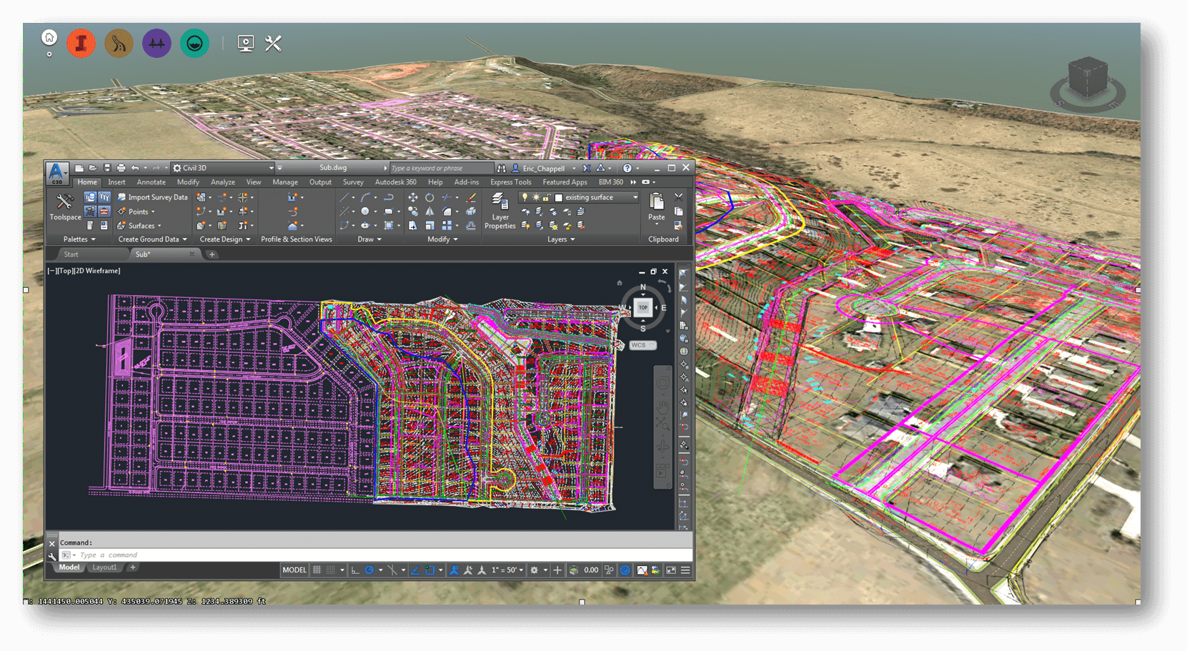 Infraworks 360 parcely