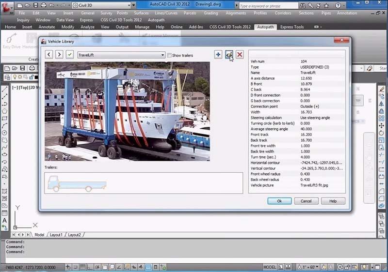 AutoCAD Civil 3D aplikace Autopath 4