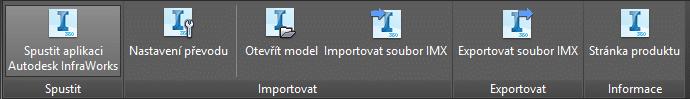 Obrázek 1 Pás karet pro Infraworks 360