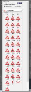 Svislé dopravní značení pro AutoCAD Civil