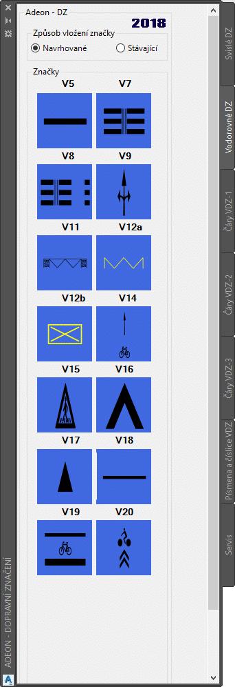 Vodorovné dopravní značení AutoCAD Civil