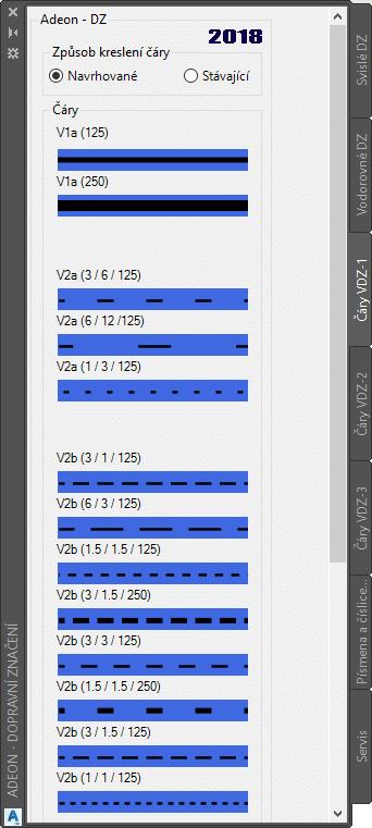 Podelné čáry v AutoCAD Civil 3D