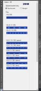 Podelne čáry dvojité AutoCAD