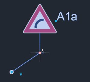 Vložení dopravní značky do AutoCADu