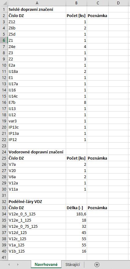 Nahled exportu MS Excel