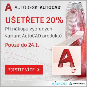 Sleva 20% na AutoCAD produkty